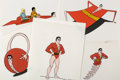 Animation Art:Presentation Cel, Plastic Man Comedy/Adventure Hour Publicity/Color Model CelsGroup of 5 (Ruby-Spears, 1979).... (Total: 5 Original Art)