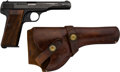 Handguns:Semiautomatic Pistol, Belgian FN Browning Model 1922 Semi-Automatic Pistol with Leather Holster....