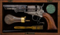Handguns:Single Action Revolver, Cased and Engraved Colt Pocket Model 1849 Single Action Revolver....
