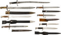 Edged Weapons:Bayonets, Lot of Eight Miscellaneous World Bayonets.... (Total: 8 Items)
