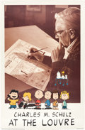 Animation Art:Poster, Charles Schulz at the Louvre Art Exhibit Poster (1990)....
