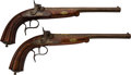 Handguns:Muzzle loading, Pair of French C. Berger Percussion Dueling Pistols.... (Total: 2Items)