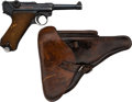 Handguns:Semiautomatic Pistol, German 42 Code Luger Dated 1940 Semi-Automatic Pistol with Leather Holster....