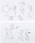 Animation Art:Concept Art, Johnny Bravo Don Knotts and Others Concept Drawings Group of6 (Hanna-Barbera/Cartoon Network, c. 1990s-2000s).... (Total: 6Original Art)
