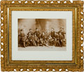 Arms Accessories:Flasks, Schützenfest: Group Photograph of an American Shooting Club, Circa Late 19th Century....