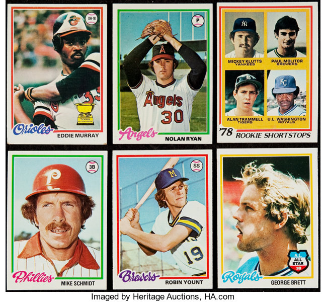 1978 Topps Baseball Complete Set 726 Baseball Cards