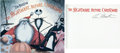 Books:General, The Nightmare Before Christmas Story Book Signed by Tim Burton (Hyperion, 1993)....