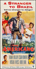 "Movie Posters:Western, The Americano (RKO, 1954). Three Sheet (41"" X 79""). Western.. ..."