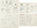 Animation Art:Concept Art, Mary Blair - Ireland Life Sketches Original Art Group of 4 (c. 1946).... (Total: 4 Original Art)