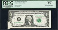 Error Notes:Foldovers, Pre-Face Printing Foldover Error Fr. 1921-A $1 1995 Federal ReserveNote. PCGS Very Fine 25.. ...