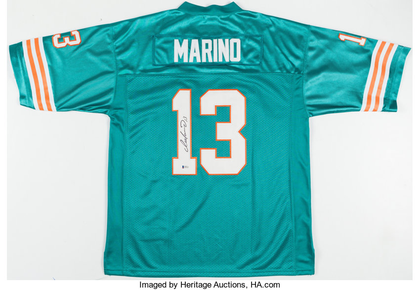 separation shoes 3a071 9aad8 Dan Marino Signed Miami Dolphins Jersey. ... Autographs ...