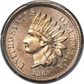 Indian Cents, 1860 1C Pointed Bust MS65 PCGS Secure....