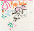 Animation Art:Production Drawing, Mary Blair - Christmas Card Illustration Original Art (c.1950s)....