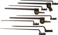 Edged Weapons:Bayonets, Lot of Six Socket Bayonets.... (Total: 6 Items)