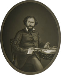 Rare Oval Lithophane Portrait of Col. Samuel Colt