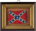 Antiques:Decorative Americana, Stars & Bars Needlework Presented to Nathan Bedford Forrest's Granddaughter....