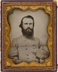 Photography:Ambrotypes, CSA Confederate General Richard Gano: Half-Plate Ambrotype and More....