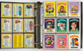 Memorabilia:Trading Cards, Garbage Pail Kids Stickers Complete Sets of Series 1-9Binder (Topps, 1985-87)....
