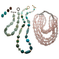 Multi-Stone, Glass, Plastic, Gold, Sterling Silver, White Metal Jewelry, Stephen Dweck
