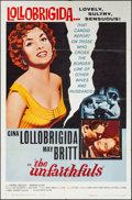"""Movie Posters:Foreign, The Unfaithfuls (Allied Artists, 1960). One Sheet (27"""" X 41"""") &Lobby Card Set of 8 (11"""" X 14""""). Foreign.. ... (Total: 9 Items)"""