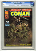 Magazines:Miscellaneous, Savage Sword of Conan #6 (Marvel, 1975) CGC NM+ 9.6 Off-white towhite pages. Robert E. Howard story adaptation. Don Newton ...