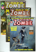 Magazines:Horror, Tales of the Zombie Group (Marvel, 1973-75) Condition: Average VF. This group includes #1, 4, 6, 7 (two copies), 8 (two copi... (10 Comic Books)