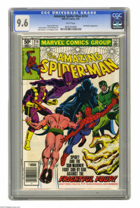The Amazing Spider-Man #214 (Marvel, 1981) CGC NM+ 9.6 White pages. Sub-Mariner appearance. John Romita Jr. cover and ar...