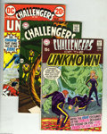 Silver Age (1956-1969):Adventure, Challengers of the Unknown Group (DC, 1965-73). The condition of these comics averages FN except as noted below. The group i... (10 Comic Books)