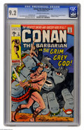 Bronze Age (1970-1979):Superhero, Conan the Barbarian #3 (Marvel, 1971) CGC NM- 9.2 Off-white to white pages. Barry Smith cover and art. Adapted from the (non...