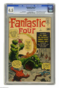 Silver Age (1956-1969):Superhero, Fantastic Four #1 (Marvel, 1961) CGC VG+ 4.5 Off-white to whitepages. Origin and first appearance of the Fantastic Four, Ma...