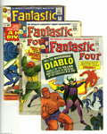 Silver Age (1956-1969):Superhero, Fantastic Four #30, 32 and 34 Group (Marvel, 1964-65) Condition: VG-. This lot consists of issues #30 (first Diablo), 32, an... (3 Comic Books)