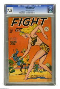 Fight Comics #56 (Fiction House, 1948) CGC VF- 7.5 Cream to off-white pages. Joe Doolin cover. Matt Baker, Jack Kamen, a...