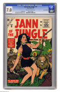 Silver Age (1956-1969):Adventure, Jann of the Jungle #10 Cosmic Aeroplane pedigree (Atlas, 1956) CGC FN/VF. With the Lion and the tribesman, Jann has her hand...