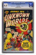 Golden Age (1938-1955):Science Fiction, Journey Into Unknown Worlds #37 (#2) (Atlas, 1950) CGC VG 4.0Off-white pages. Hitler story. Bill Everett cover and art. Ove...