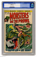 Bronze Age (1970-1979):Horror, Monsters on the Prowl #16 (Marvel, 1972) CGC NM+ 9.6 Off-whitepages. Fourth appearance of King Kull. John Severin cover and...