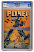 Golden Age (1938-1955):Science Fiction, Planet Comics #48 (Fiction House, 1947) CGC VF- 7.5 Cream tooff-white pages. Robot cover. Murphy Anderson, George Evans, an...