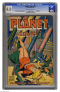 Golden Age (1938-1955):Science Fiction, Planet Comics #53 (Fiction House, 1948) CGC VG 4.0 Cream tooff-white pages. Used in Seduction of the Innocent. Bondage ...