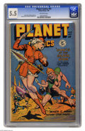 Golden Age (1938-1955):Science Fiction, Planet Comics #55 (Fiction House, 1948) CGC FN- 5.5 Off-whitepages. Matt Baker, Murphy Anderson, George Evans, and Maurice ...