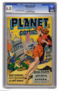 Golden Age (1938-1955):Science Fiction, Planet Comics #57 (Fiction House, 1948) CGC FN 6.0 Cream tooff-white pages. Matt Baker, Maurice Whitman, George Evans, and ...