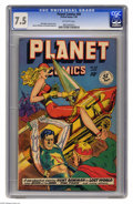Golden Age (1938-1955):Science Fiction, Planet Comics #58 (Fiction House, 1949) CGC VF- 7.5 Off-whitepages. Matt Baker, George Evans, Maurice Whitman, and Graham I...