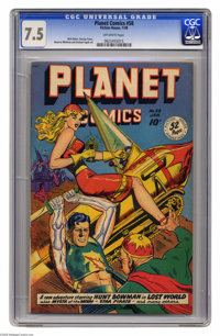 Planet Comics #58 (Fiction House, 1949) CGC VF- 7.5 Off-white pages. Matt Baker, George Evans, Maurice Whitman, and Grah...