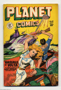 Golden Age (1938-1955):Science Fiction, Planet Comics #60 (Fiction House, 1949) Condition: VG/FN. GeorgeEvans, Frank Fermonetti, and Leonard Starr art. This book c...