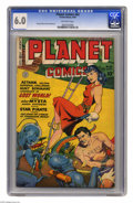 Golden Age (1938-1955):Science Fiction, Planet Comics #62 (Fiction House, 1949) CGC FN 6.0 Off-white pages.George Evans and Joe Doolin art. Overstreet 2005 FN 6.0 ...