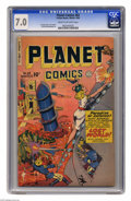 Golden Age (1938-1955):Science Fiction, Planet Comics #63 (Fiction House, 1949) CGC FN/VF 7.0 Cream tooff-white pages. George Evans, Joe Cavallo, and John Rosenber...