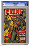 Golden Age (1938-1955):Science Fiction, Planet Comics #64 (Fiction House, 1950) CGC FN 6.0 Off-white pages.Robot cover. George Evans and Joe Cavallo art. Overstree...