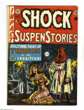 "Golden Age (1938-1955):Horror, Shock SuspenStories #6 (EC, 1952) Condition: VG. Overstreetdescribes this Wally Wood cover as a ""classic hooded vigilante b..."