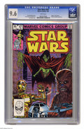 """Modern Age (1980-Present):Science Fiction, Star Wars #67 (Marvel, 1983) CGC NM+ 9.6 White pages. """"Death"""" ofthe Darkar. Plif and the Hoojibs appearance. Tom Palmer cov..."""