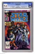 """Modern Age (1980-Present):Science Fiction, Star Wars #70 (Marvel, 1983) CGC NM+ 9.6 White pages. Flashbackstory told by Luke Skywalker, takes place between """"A New Hop..."""