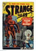 Golden Age (1938-1955):Horror, Strange Tales #34 (Marvel, 1955) Condition: GD+. Last pre-codeissue. Carl Burgos cover. Werner Roth and Al Hartley art. Ove...
