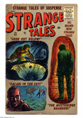 Golden Age (1938-1955):Horror, Strange Tales #44 (Marvel, 1956) Condition: GD/VG. Sol Brodskycover. Joe Orlando, Bob Powell, and Paul Reinman art. Overstr...